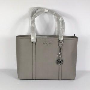 Michael Kors Sandy Pear Grey Lg MF Tz Tote Leather